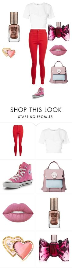 """star:school"" by miliorobb on Polyvore featuring T By Alexander Wang, Converse, Barry M, Too Faced Cosmetics and Viktor & Rolf"