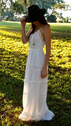 Wanderluster White Maxi Dress