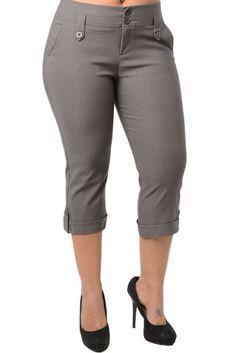Fashion Bug Womens Plus Size Classic Chic Capri Pants www.fashionbug.us