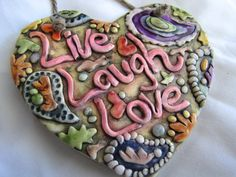 Live Laugh Love wall art by walkercrafts on Etsy, $24.00
