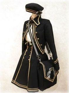 胡思乱想 — kitsoru: Military style lolita coords via Frasco. Cosplay Outfits, Anime Outfits, Mode Outfits, Fashion Outfits, Mode Lolita, Lolita Style, Kawaii Clothes, Character Outfits, Lolita Dress