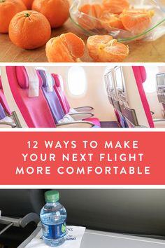 12 Ways to Make Your Plane Ride More Comfortable via @PureWow