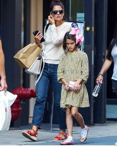 Suri and her beautiful mother Katie in New York City 17/8/2017
