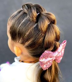 Easy Little Girl Hairstyles, Girls Hairdos, Cute Girls Hairstyles, Easy Hairstyles For Long Hair, Hair For Little Girls, Haircuts For Little Girls, Cute Girl Haircuts, Office Hairstyles, Stylish Hairstyles