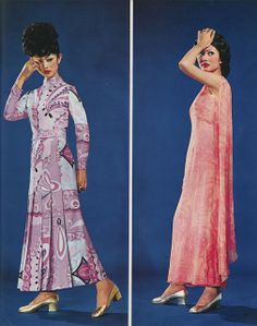 Thai Fashion Magazine 1968.  I like the dress on the right, definitely not the hairdos. . .