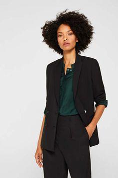 Blazer & Anzüge für Damen im Online Shop kaufen   ESPRIT Mix Match, Business Hose, Black Blazers, Stretch Fabric, Stretches, Collection, Women, Costumes, Products