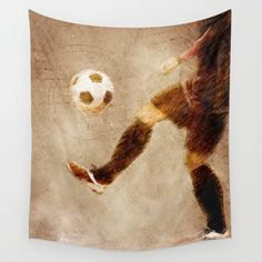 Buy Football player sport art #football #soccer Wall Tapestry by jbjart. Worldwide shipping available at Society6.com. Just one of millions of high quality products available. Football Soccer, Football Players, Society 6 Tapestry, Sports Art, Wall Tapestry, Products, Soccer Players, Gadget