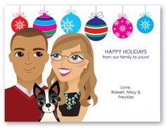 Personalized Caricature Hanukkah / Christmas Holiday Card - mazelmoments.com