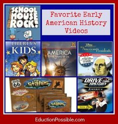 Using Videos to Teach Early American History: what a great list of videos for history and social studies teachers. Perfect for elementary school.