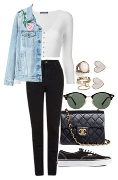 """Sin título #1183"" by tamar4a ❤ liked on Polyvore featuring Forever 21, Alexander McQueen, Chanel, Topshop, Vans, Ray-Ban and New Look"