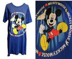 Vintage Blue Mickey Mouse Disneyland Disney T Shirt Cartoon USA Grunge Goofy Disney, Beaded Flapper Dress, Disney Brands, Vintage Mickey, Black Feathers, Disneyland, Screen Printing, Mickey Mouse, Grunge