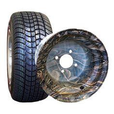 "Golf Cart Tire & Wheel Assembly - 10"" Tires/Wheels For Club Car, EZGO & Yamaha"