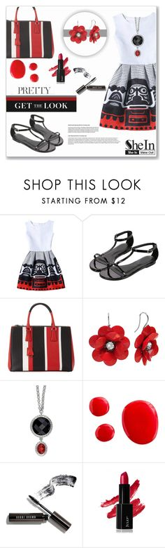 """""""WIN SHEIN $30 COUPON – contest sponsored by SHEIN.COM"""" by sherri40 ❤ liked on Polyvore featuring Prada and Bobbi Brown Cosmetics"""