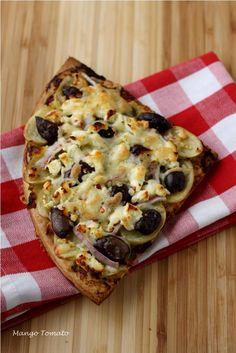 Greek Potato Pizza