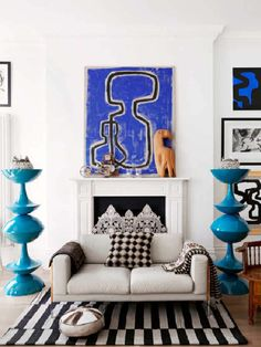 Modern wall art, eclectic room