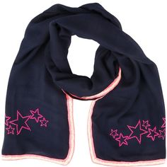 NEW: Metalhead studded NEON summer scarf (navy/pink)