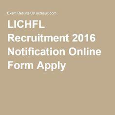 LICHFL Recruitment 2016 Notification Online Form Apply