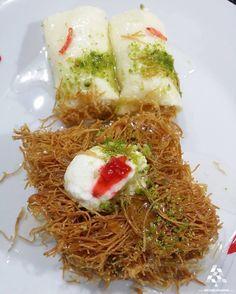 Ramadan yummy sweets By Lebanese Desserts, Lebanese Recipes, Seaweed Salad, Lebanon, Sweets, Fruit, Ramadan, Cooking, Ethnic Recipes