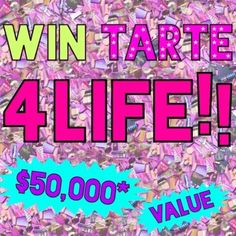 Win $50000 from Tarte Cosmetics Giveaway September 2017