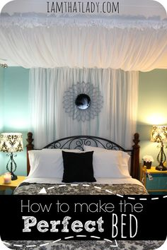 Slipping into a perfectly made bed is something I absolutely LOVE! Here is a step by step tutorial on how to make a perfect bed, how to save on a mattress, and get the best nights sleep!