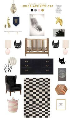 black and white baby room ideas