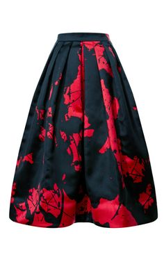 Splotch Splatter Print Silk Gazaar Skirt by Tibi - Moda Operandi