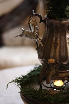 French-Kissed.com - do I have any reindeer ornaments that I could paint to look like pewter