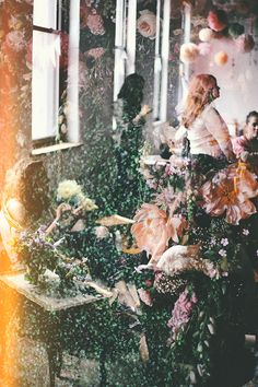 I like this double exposure of the flowers and then people showing through. It would be nice for wedding photos that you could hang more as abstract art in your home.