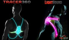 Of course, I could imagine a bright reflective promotional message on these - The Tracer360 is a high visibility vest that takes you where a reflective vest can't. With 360 degrees of full color spectrum illumination paired with 3M reflectivity, the Tracer360 perfect for runners and cyclists.