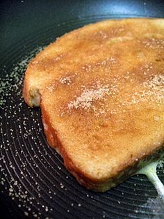 Cinnamon & Sugar toast. Mom brought this to me every morning with Hot cocoa to enjoy while getting ready for school.