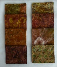 Batiks,Cotton Fabric, Quilt, Dancing in the Rain #2, Moda  Batik Fat Quarter Bundle of 8 Fat Quarters, Red Collection, Fast Shipping FQ 110