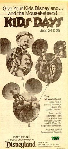 Image result for mouseketeers 1977