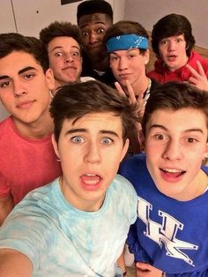 Nash, Jack Gilinsky, Cameron, Taylor, Aaron, and Shawn