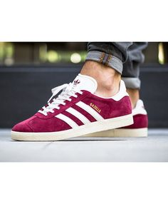 online store 97c94 6a237 Adidas Gazelle Collegiate Burgundy White Gold Metallic Trainers Sale UK Adidas  Gazelle Mens, Adidas Nmd