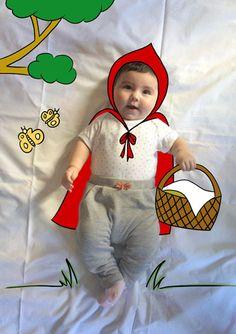 Olivia de Mayor Quiere ser Caperucita Roja. Fotografia & Ilustración Creativa de bebés y niños soñadores. bebé baby