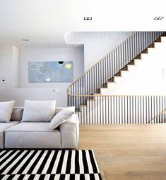 This Gorgeous London Townhouse Embodies Minimalist Swank - Adventures in Interior Design - Curbed National Home Stairs Design, Railing Design, Interior Stairs, Interior Architecture, House Design, Interior Design, Stair Design, Minimalist Home Decor, Minimalist Interior