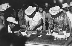 Pay night at bracero camp in Pharr, Texas. Ave weekly pay was $26. Bitter Harvest: LIFE With America's Migrant Workers, 1959 | LIFE.com