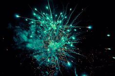 Teal fireworks