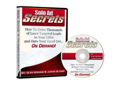 Warrior Special Offer: Solo Ad Secrets - Learn how to get thousands of visitors to your sites and onto your list every single day using solo ads: http://www.internetmasterycenter.com/products/solo-ad-secrets.html