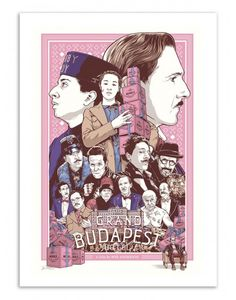 Art-Poster and prints Wall Editions : The Grand Budapest Hotel, Wes Anderson Movies Fan-Art, by Joshua Budich. Illustration Format : 50 x 70 cm.