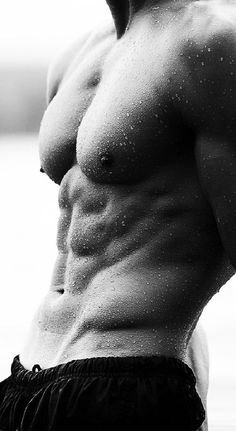 Male models abs black and white