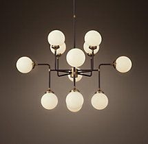 Bistro Globe Milk Glass 12-Light Chandelier - Is this crazy???