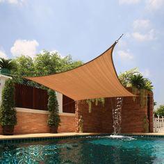 Medium Square Sail Extra-heavy Fabric Sun Shade (Beige) (Metal) #SUNSHD-square-