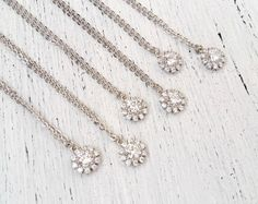 Bridesmaid necklace set of 6  Wedding necklace Bridesmaid Proposal Gift Bridesmaids Gift Bridesmaid Earrings Bridesmaid Gift by FranceProvence #TrendingEtsy