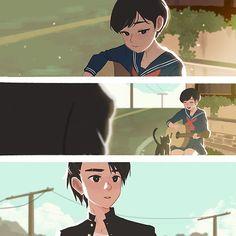Crush: Saki & kyosuke #Crush #CrushComic #illustration #comic #sketch #romance #art #instaart #love #japan #cute #dikeakbar #disney #kawaii