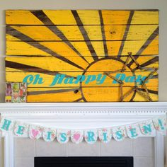 """20 minute crafter: """"He is Risen"""" Easter banner with Free Stencil & Template! {can be no sew!!}"""