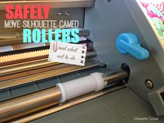 How to Move Silhouette CAMEO Rollers (Easily) #Silhouette #Silhouetteideas #silhouetteprojects #silhouettecameo #silhouettetutorials