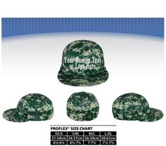 Custom Text or  Logo Embroidered On Pro Flex Fit Flatbill Bill Hat Performance Q3� Fabric. Digital Camo Hat. Digital Camo Flex Hat. Camo Hat
