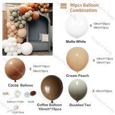 Balloon Arch, Balloon Garland, The Balloon, Nest Design, Shower Party, Baby Shower Parties, Boy Shower, Bridal Shower, Balloons Online