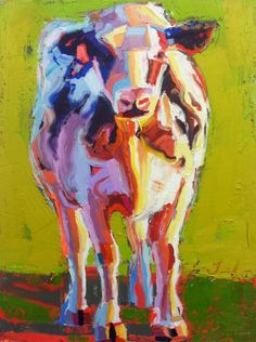 Teil Duncan #Animals Cow Calf Painting #art